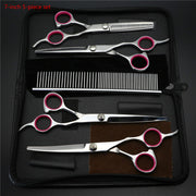 Stainless Steel 7 inch Colour Pet Hair Scissors Set