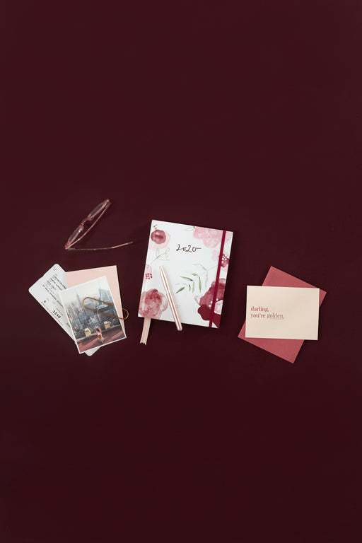 COMING SOON: 2020 Burgundy Rose Weekly Planner, Stationary, Emma Kate Co. - 3LittlePicks