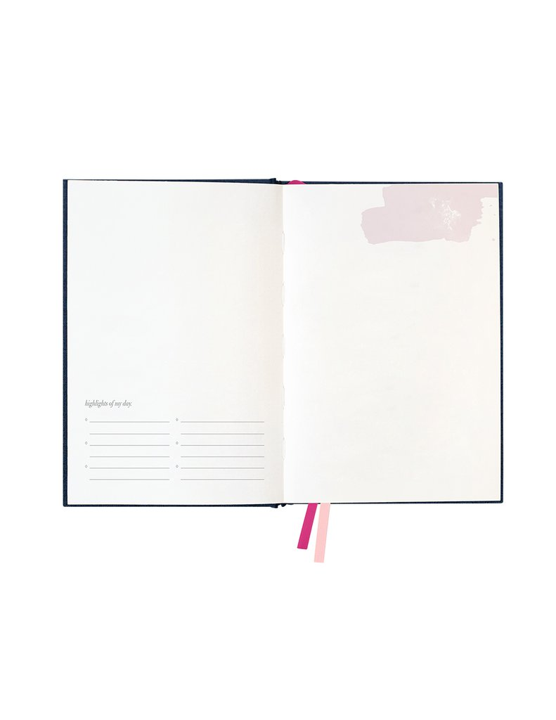 Linen Travel Journal, Stationary, Blushing Confetti - 3LittlePicks