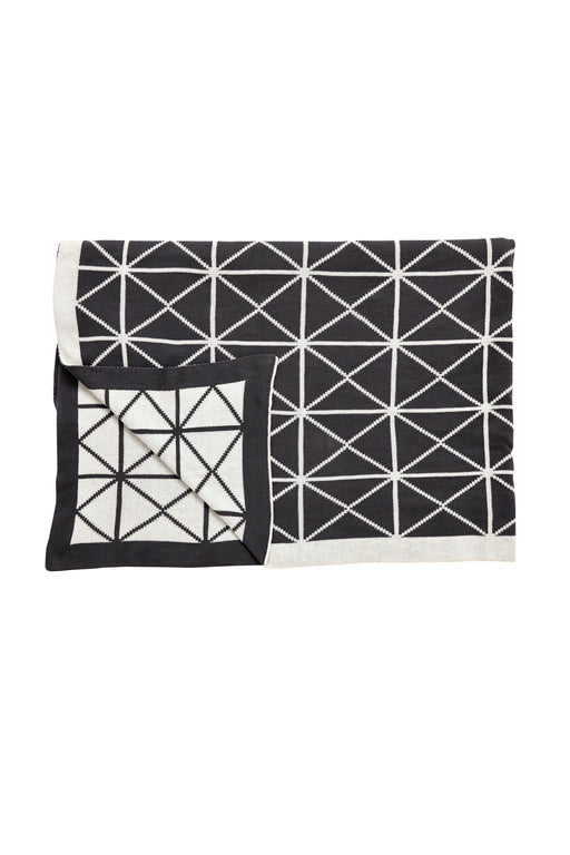 Black And White Geometric Plaid, Textile, Hübsch - 3LittlePicks