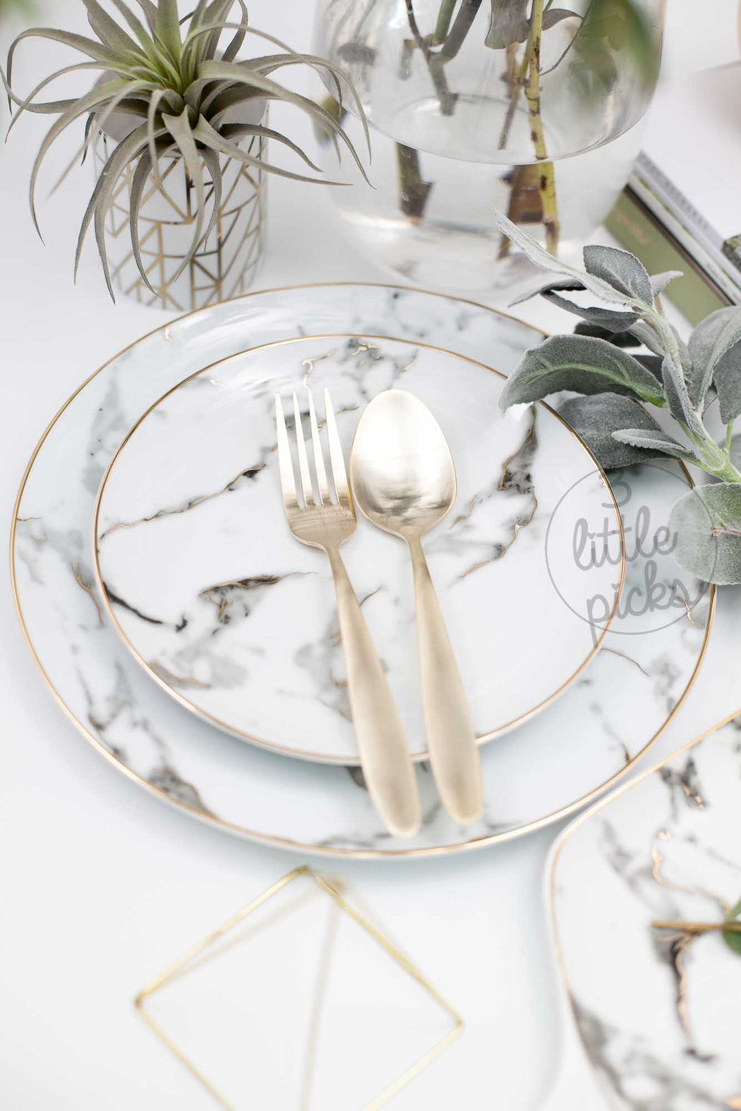 Golden Marble Print, Dining, 3littlepicks - 3LittlePicks
