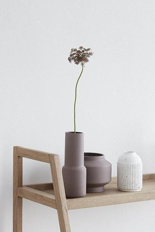 Rose Brown Matt Vase
