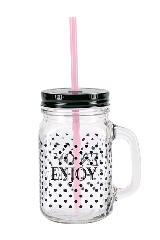 Enjoy Glass Jar, Drinkware, Miss Etoile - 3LittlePicks