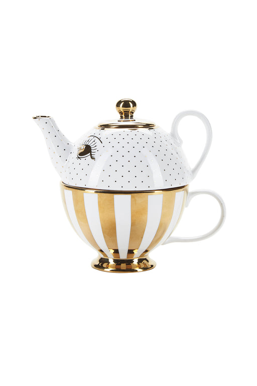 Golden Open Eyes Mini Teapot Set, Drinkware, Miss Etoile - 3LittlePicks