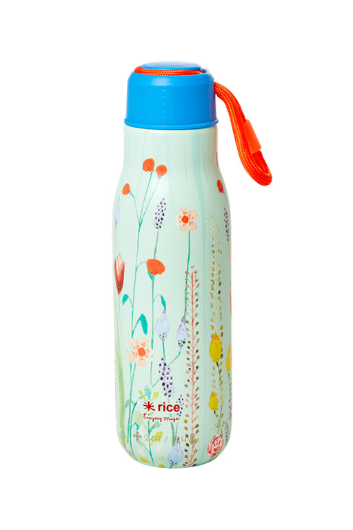 Summer Flowers Stainless Steel Water Bottle