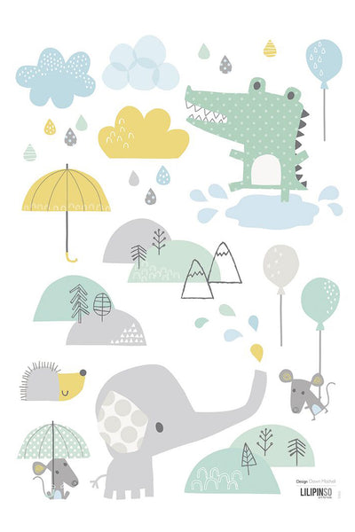 Baby Elephant Vinyl Decal