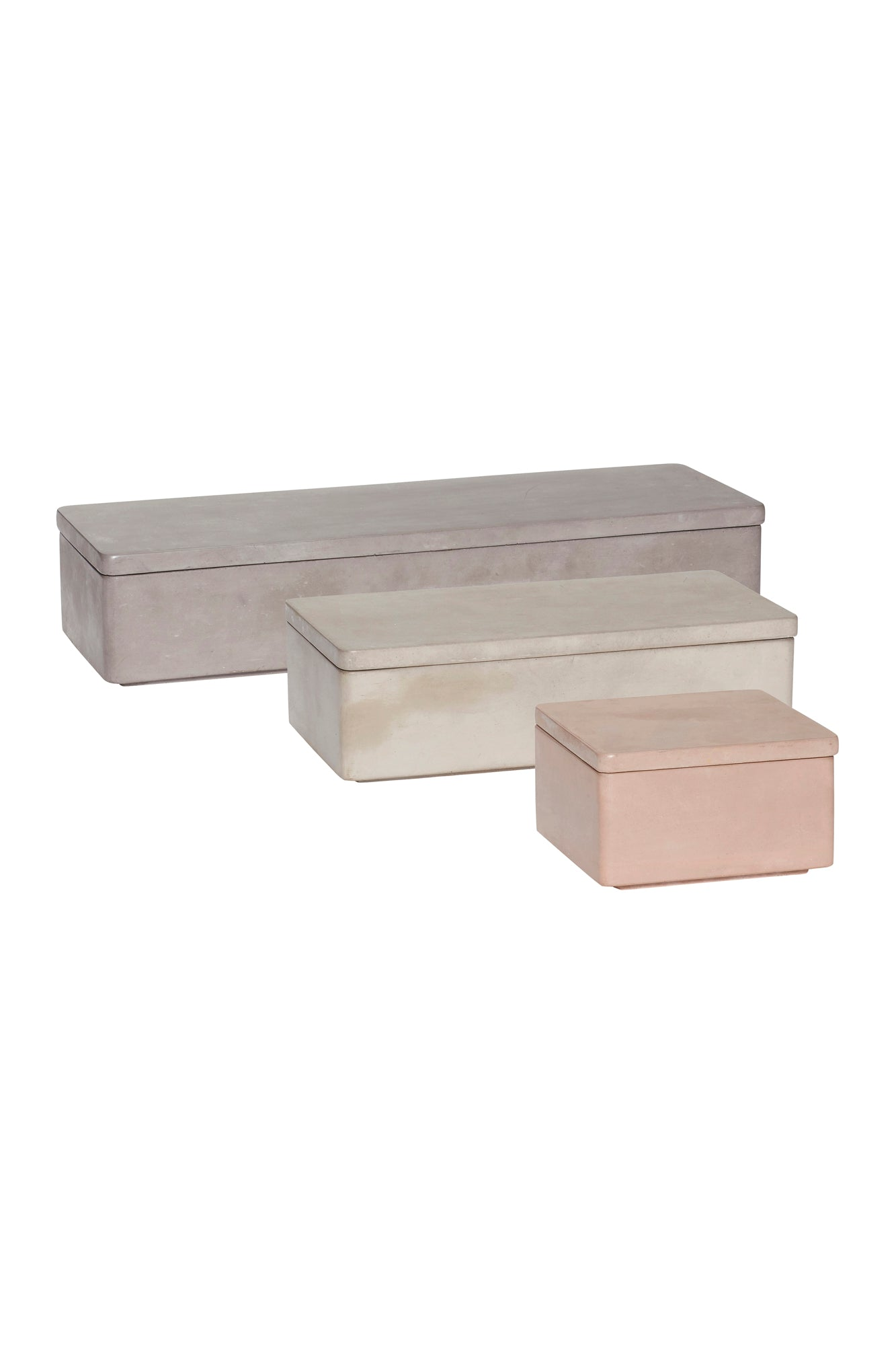 Concrete Storage Boxes, Vase, Hübsch - 3LittlePicks