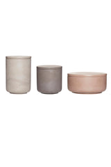 Concrete Storage Jars, Vase, Hübsch - 3LittlePicks