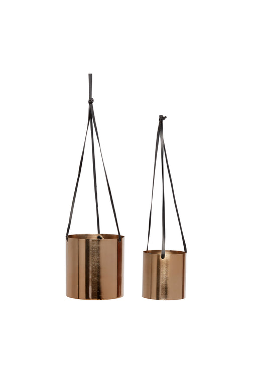 Copper Hanging Flowerpots, Decor, Hübsch - 3LittlePicks