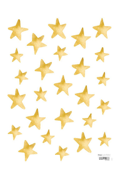 Golden Stars Vinyl Decal