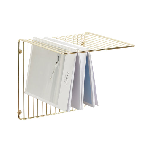 Golden Wired Wall Shelf, Furniture, Hübsch - 3LittlePicks