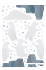 Bear and Iceberg Vinyl Decal, Decor, Lilipinso - 3LittlePicks