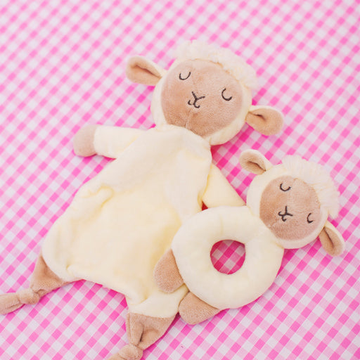 Baa Baa Lamb Comforter and Rattle Set