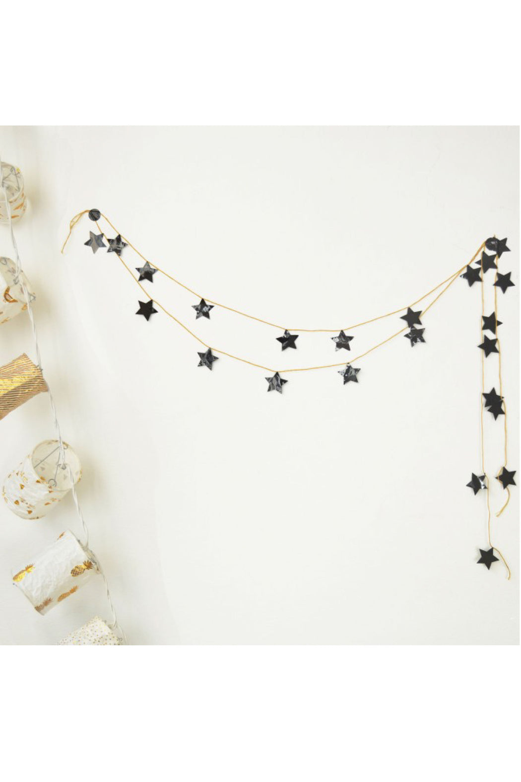 Shiny Black Stars Garland Kit, Decor, MIMI' lou - 3LittlePicks