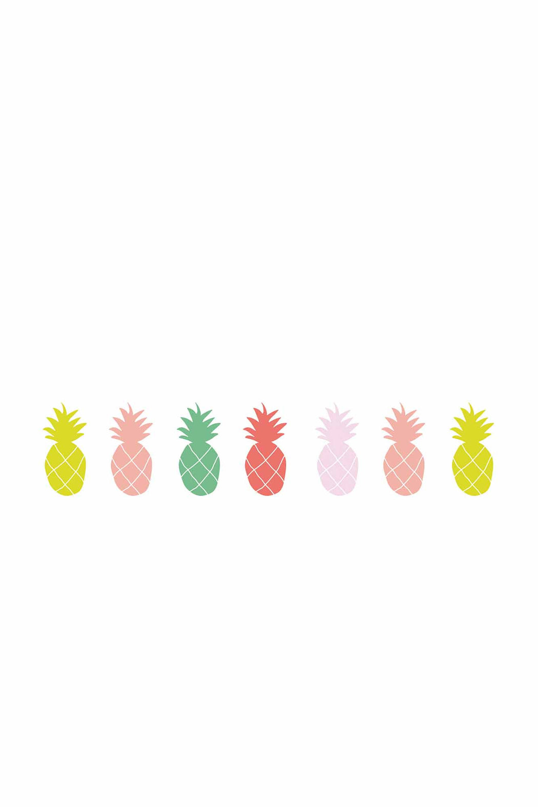 Colourful Pineapple Vinyl Decals, Decor, MIMI' lou - 3LittlePicks