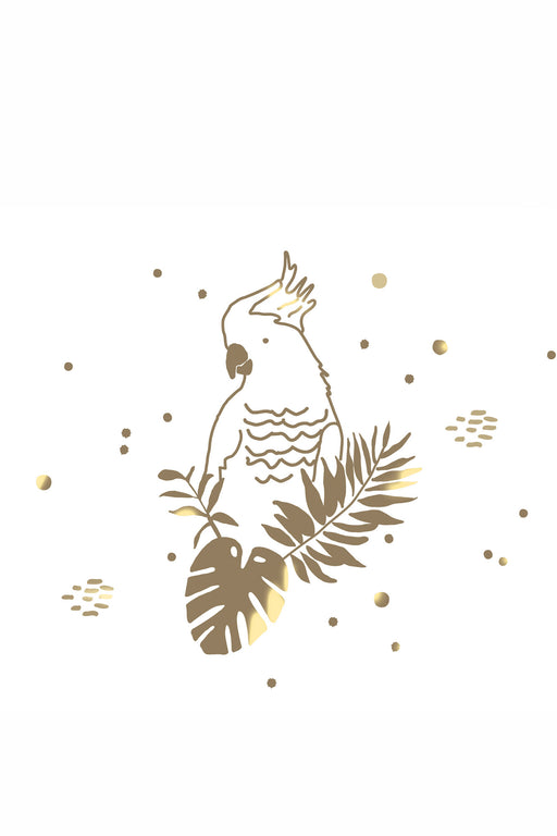 Golden Parrot Vinyl Sticker, Decor, MIMI' lou - 3LittlePicks