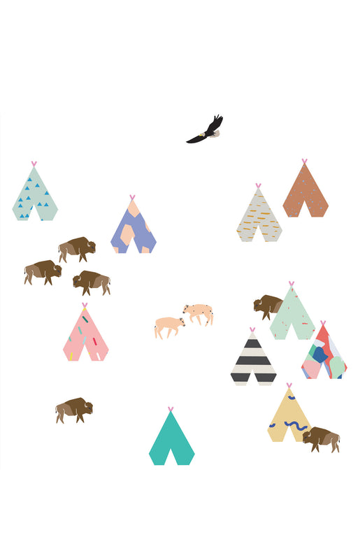Buffalo Vinyl Stickers, Decor, MIMI' lou - 3LittlePicks