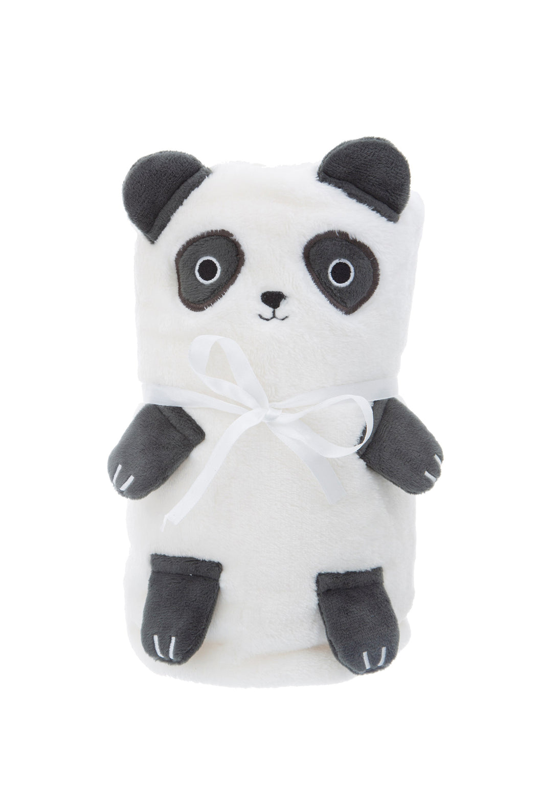 Panda Soft Fleece Baby Blanket, Cushion, Sass & Belle - 3LittlePicks