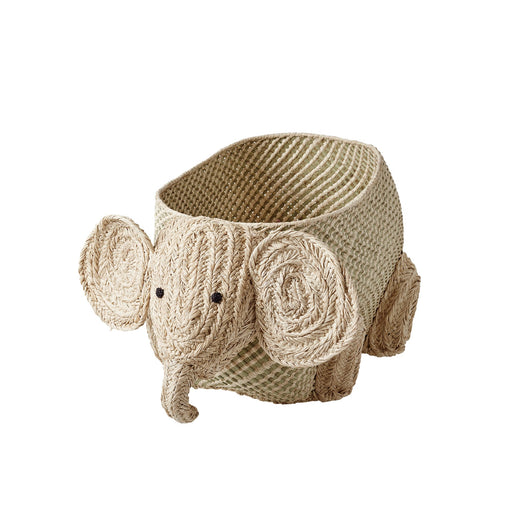 Elephant Raffia Woven Storage Basket, Utensils, RICE - 3LittlePicks