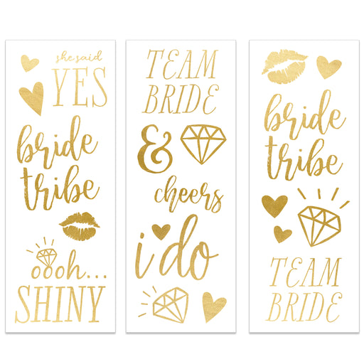 Bride To Be Tattoo Set, Partyware, My Mind's Eye - 3LittlePicks