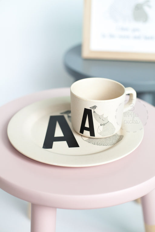 Letter Animal Bamboo Melamine, Dining, Bloomingville - 3LittlePicks