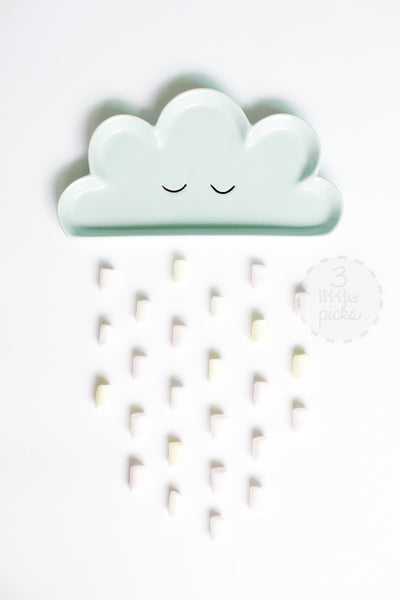 Pastel Blue Cloud Plate