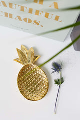 Golden Pineapple Tray, Decor, Bloomingville - 3LittlePicks