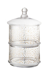 Golden Confetti 2-Tier Glass Jar