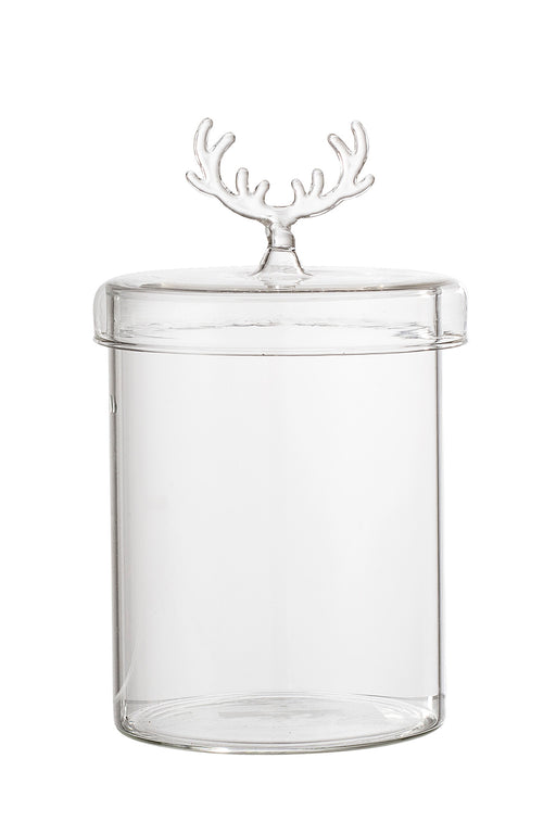 Antler Lid Glass Jar, Storage, Bloomingville - 3LittlePicks