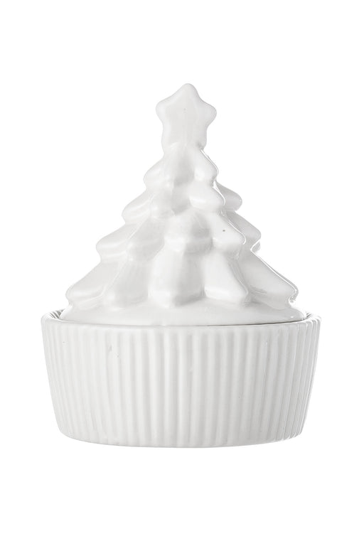 White Christmas Tree Jar