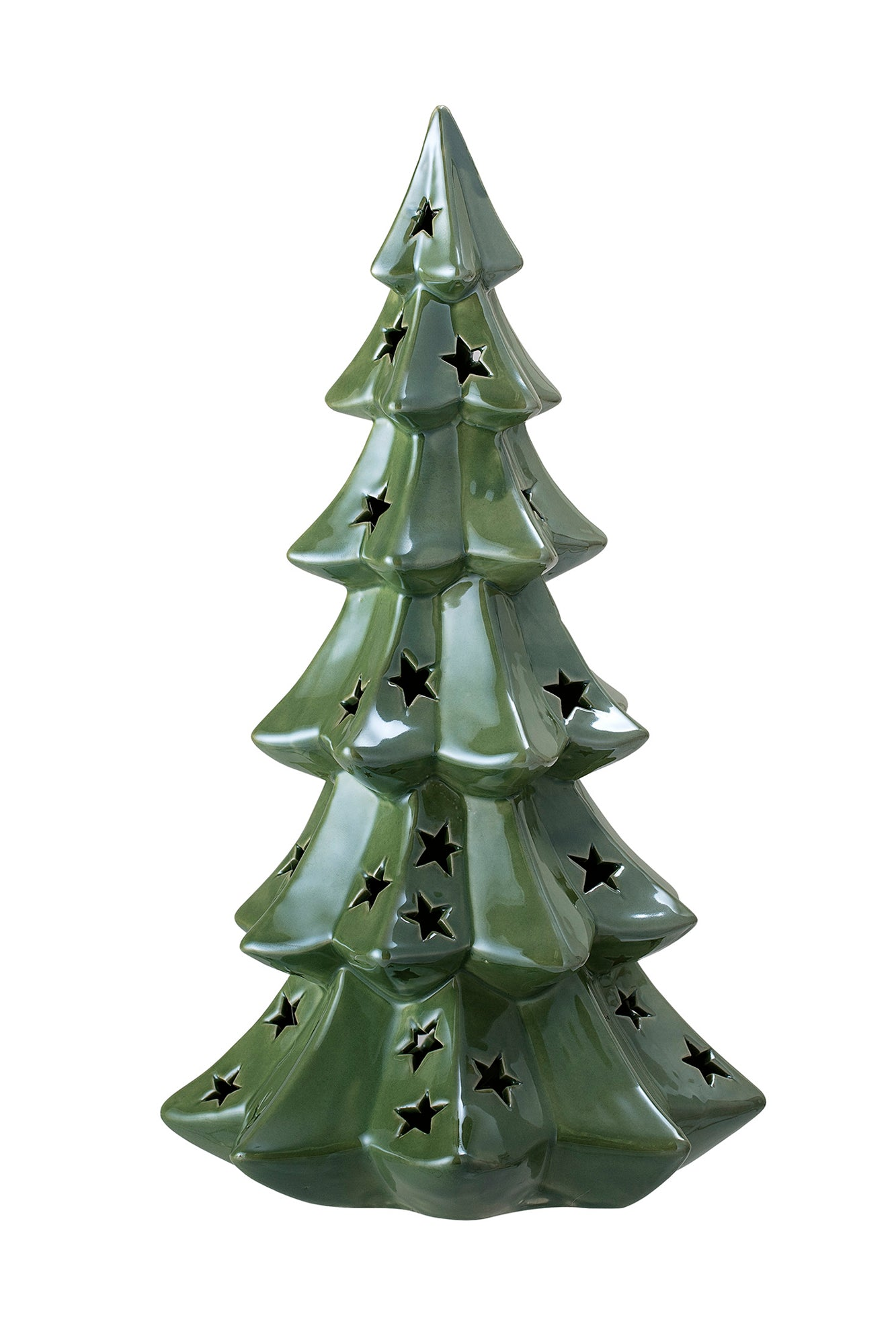 Starry Green Christmas Tree Light