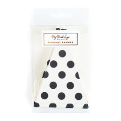 Black & White Dots Banner