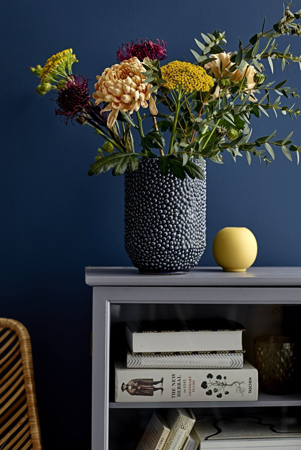 Blue Bobble Vase, Vase, Bloomingville - 3LittlePicks