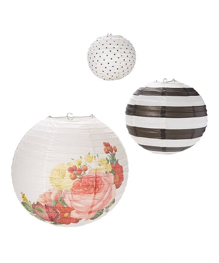 Botanical Paper Lantern Set