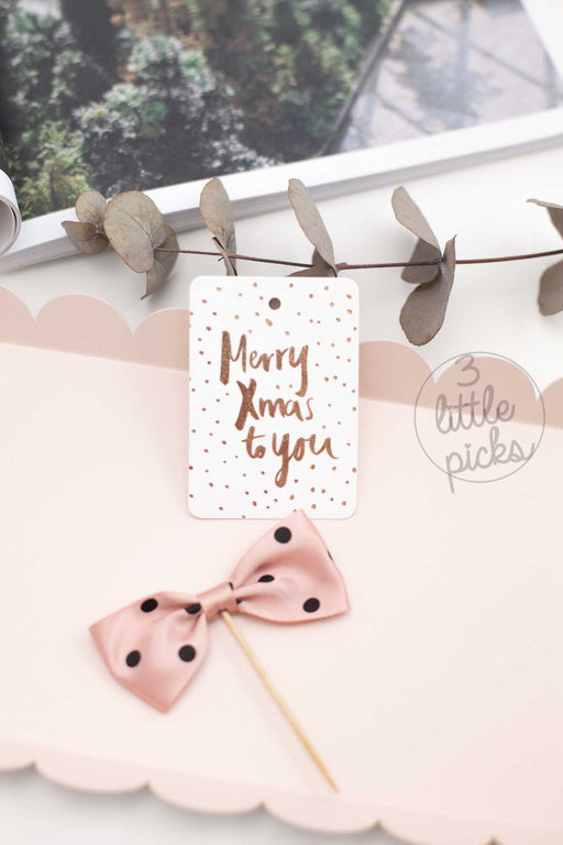 Merry Xmas To You, Stationary, Blushing Confetti - 3LittlePicks