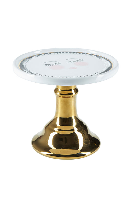 Closed Eyes Gold Foot Cake Stand, Serveware, Miss Etoile - 3LittlePicks