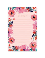 Candy Floral Notepad, Stationary, Blushing Confetti - 3LittlePicks