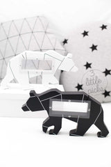 Geometrical Bear Money Box, Toy, Devine Design - 3LittlePicks