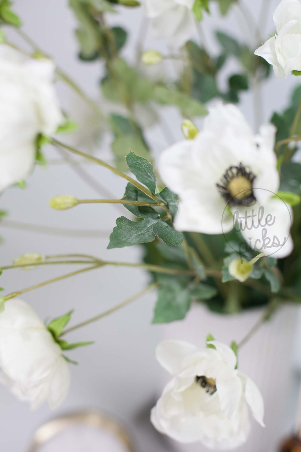 Artificial White Anemone, Decor, 3littlepicks - 3LittlePicks