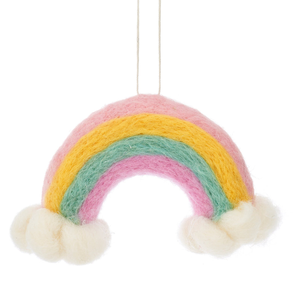 Wonderland Rainbow and Clouds Hanging Felt Decoration, Decor, Sass & Belle - 3LittlePicks