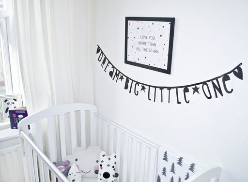 Black Letter Banner Set, Decor, A Little Lovely Company - 3LittlePicks