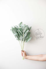 Flocked Dusty Miller, Decor, 3littlepicks - 3LittlePicks