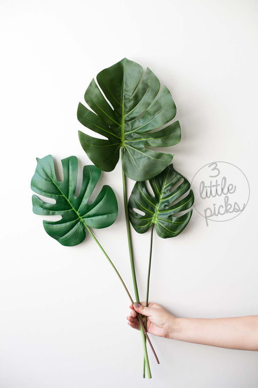 Faux Monstera Leaf, Decor, 3littlepicks - 3LittlePicks