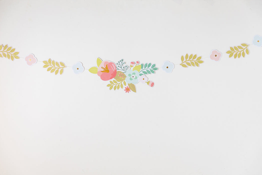 Garden Party Floral and Pennant Banner Set