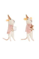 Star and Snowball Mice Felt Decorations