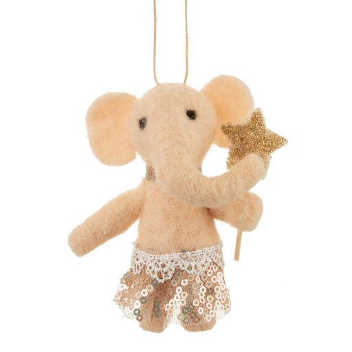 Elephant in Tutu Felt Hanging Decoration, Decor, Sass & Belle - 3LittlePicks