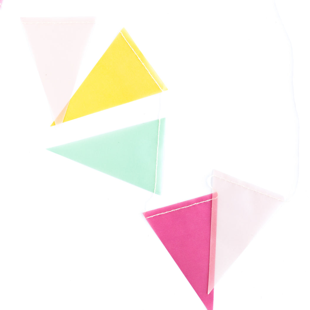 Hooray Vellum Pennant Banner, Partyware, My Mind's Eye - 3LittlePicks