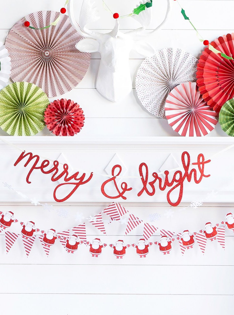 Merry & Bright Letter Banner