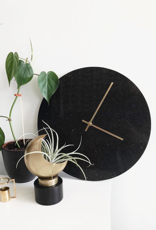 Black Marble Wall Clock, Lifestyle, Hübsch - 3LittlePicks