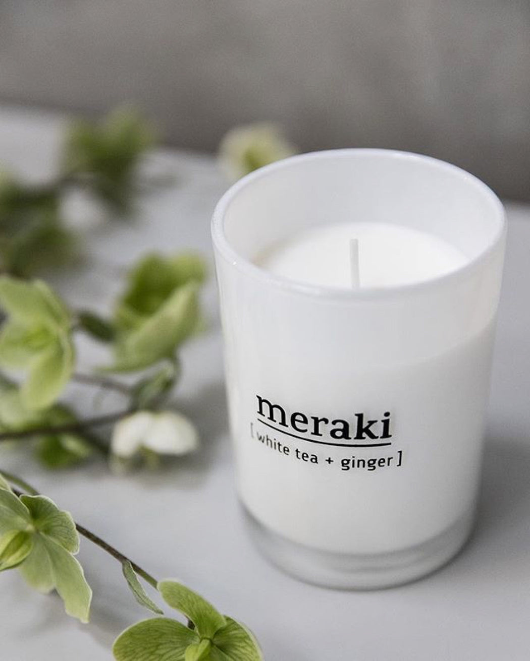 White Tea And Ginger Scented Candle, Lifestyle, Meraki - 3LittlePicks